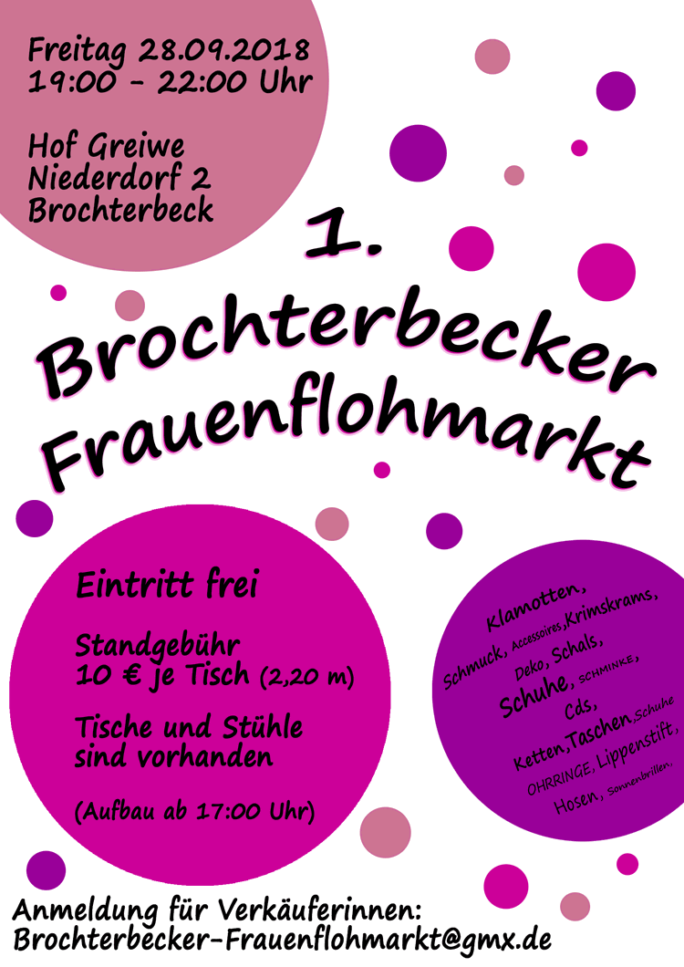 1. Brochterbecker Frauenflohmarkt
